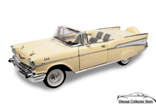 1957 Chevrolet Bel Air Convertible ROAD SIGNATURE Diecast 1:18 Scale Cream
