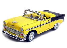 1956 Chevrolet Bel Air Convertible ROAD SIGNATURE Diecast 1:18 Yellow / Black