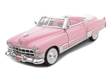 1949 Cadillac Coupe deVIlle Convertible ROAD SIGNATURE Diecast 1:18 Scale Pink