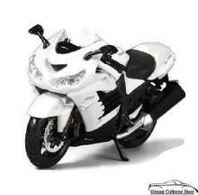 Kawasaki Ninja ZX-14R MAISTO Diecast 1:12 Scale Black & White FREE SHIPPING