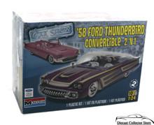 1958 Ford Thunderbird Convertible 2'n1 MONOGRAM Model Kit 1:24 Scale