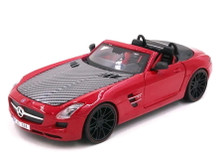 Mercedes - Benz SLS AMG Roadster MAITO EXOTICS Diecast 1:24 Scale Red