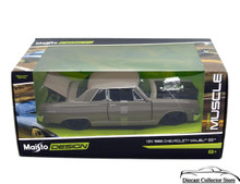 1965 Chevrolet Malibu SS MAISTO MUSCLE Diecast 1:24 Scale Grey