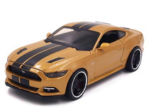 2015 Ford Mustang GT MAISTIO MUSCLE Diecast 1:24 Scale Gold