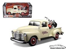 1950 Chevrolet 3100 Pickup 2001 FLSTS Heritage Springer HARLEY DAVIDSON Diecast 1:24