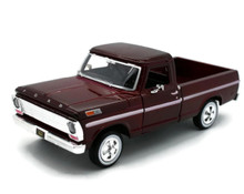 1969 Ford Pickup F-100 MOTORMAX Diecast 1:24 Scale Cranberry Red