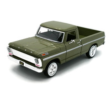 1969 Ford Pickup F-100 MOTORMAX Diecast 1:24 Scale Green