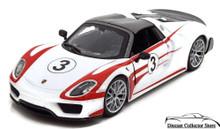Porsche 918 Weissach BBURAGO Diecast 1:24 Scale