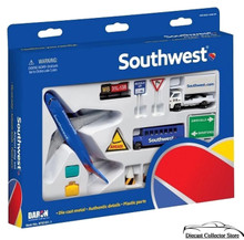 SOUTHWEST AIRLINES Airport Play Set (12 pcs) Diecast 1:300 Scale FREE SHIPPING