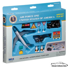 AIRFORCE ONE Airport Play Set (12 pcs) Diecast 1:500 Scale FREE SHIPPING