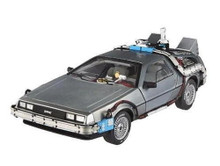 Delorean Back To The Future Time Machine DeLorean Mr. Fusion HOT WHEELS Diecast 1:18 Scale