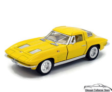 1963 Chevrolet Corvette Kinsmart Diecast 1:36 Scale Yellow FREE SHIPPING