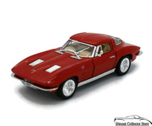 1963 Chevrolet Corvette Kinsmart Diecast 1:36 Scale Red FREE SHIPPING