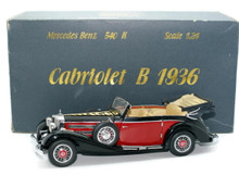 CMC 1936 Mecedes Benz 540 K Cabriolet B Top Down Diecast 1:24 Scale