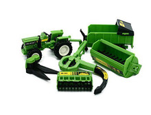 Country Life Tractor with Rotaspreader, Trailer & Implements Newray FREE SHIPPING