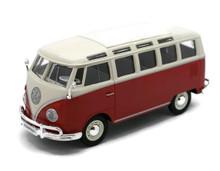 Volkswagon VW Van SAMBA Bus Maisto Diecast 1:25 Scale Red FREE SHIPPING