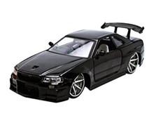 Nissan Skyline GT-R BNR34 JADA BIGTIME KUSTOMS Diecast 1:24 Scale Black 96812