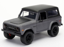 1973 Ford Bronco JADA JUST TRUCKS Diecast 1:24 Scale Matte Grey 98279