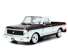 1972 Chevrolet Chevy Cheyenne Pickup JADA BIGTIME KUSTOMS Diecast 1:24 Black & White 96865