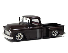 1955 Chevy Chevrolet Stepside Pickup BIGTIME KUSTOMS Diecast 1:24 Scale Brown 90160