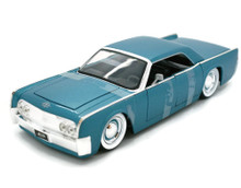 1963 Lincoln Continental Baby Moons JADA BIGTIME KUSTOMS Diecast 1:24 Scale Blue 90607