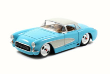 1957 Chevy Corvette JADA BIGTIME MUSCLE Diecast 1:24 Scale Sky Blue 98162
