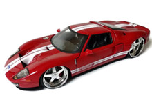 2005 Ford GT JADA BIGTIME KUSTOMS Diecast 1:24 Scale Red 96732