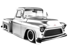 1955 Chevy Stepside Pickup w/ Extra Wheels JADA JUST TRUCKS Diecast 1:24 Scale Silver 97230
