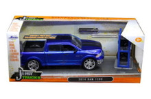 2014 Ram 1500 Pickup w/ Extra Wheels JADA JUST TRUCKS Diecast 1:24 Scale Blue 97691