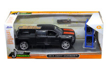 2014 Chevy Silverado Pickup w/ Extra Wheels JADA JUST TRUCKS Diecast 1:24 Scale Matte Black 97690