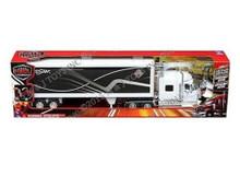 INTERNATIONAL LONESTAR Dry Van Container Semi Hauler NEWRAY Diecast 1:32 White