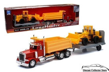 PETERBILT Model 379 Dump Truck with Wheel Loader and Trailer NEWRAY Diecast 1:32