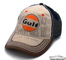 HAT - Gulf Oil Appliqued Mesh Vented Adjustable Ball Cap FREE SHIPPING