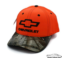 Hat - Chevrolet RealTree Camouflage and Orange Ball Cap Adjustable FREE SHIPPING