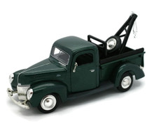 1940 Ford Pickup Tow Truck Wrecker MOTORMAX Diecast 1:24 Scale Green