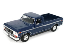 1979 Ford F-150 Custom Pickup MOTORMAX Diecast 1:24 Scale Blue