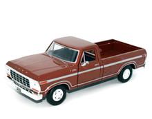 1979 Ford F-150 Custom Pickup MOTORMAX Diecast 1:24 Scale Brown
