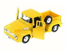 1955 Ford F-100  Pickup MOTORMAX Diecast 1:24 Scale Yellow