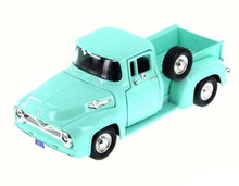 1955 Ford F-100  Pickup MOTORMAX Diecast 1:24 Scale Green/Turquoise