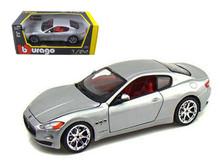 2008 Maserati Gran Turismo BBURAGO Diecast 1:24 Scale Silver