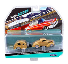 1936 Ford Coupe with Travel Trailer MAISTO Diecast 1:64 FREE SHIPPING