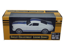 1965 Shelby GT350 SHELBY COLLECTIBLES LEGEND SERIES Diecast 1:43 Scale White