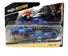Flatbed Tow Truck & 1970 Plymouth GTX MAISTO 1:64 FREE SHIPPING