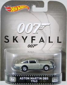 1963 Aston Martin DB5 James Bond 007 Sky Fall HOT WHEELS Diecast 1:64 FREE SHIPPING