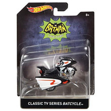 Classic BATMAN TV Series BATCYCLE Hot Wheels Diecast 1:50 Scale FREE SHIPPING