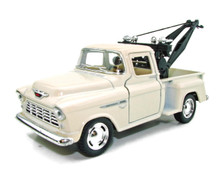 1955 Chevy 3100 Tow Truck Kinsmart Diecast 1:32 Scale Ivory FREE SHIPPING