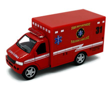 "Fire Dept Rescue Team Paramedic Ambulance Kinsmark Diecast 5"" FREE SHIPPING"