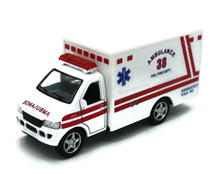"Fire Dept Rescue Team Ambulance Kinsmark Diecast 5"" FREE SHIPPING"
