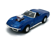 1969 Chevrolet Corvette SUNNYSIDE Diecast 1:32 Scale Blue FREE SHIPPING