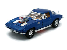 1963 Chevrolet Corvette SUNNYSIDE Diecast 1:32 Scale Blue FREE SHIPPING